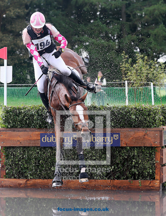 Tattersalls International Horse Trials at Tattersalls, Ratoath<br /> Holland's Althea Bleekman parts company with Anmarsch<br /> Picture by Lorraine O'Sullivan/Focus Images Ltd +353 872341584<br /> 31/05/2014