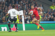 England's Wing Anthony Watson during the Pool A Rugby World Cup match between England and Fiji at Twickenham, Richmond, United Kingdom on 18 September 2015. Photo by Phil Duncan.