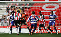 Photo: Lee Earle.<br /> Southampton v Queens Park Rangers. Coca Cola Championship. 30/09/2006. Southampton's Jermaine Wright (2ndL) beats QPR keeper Paul Jones to open the scoring.