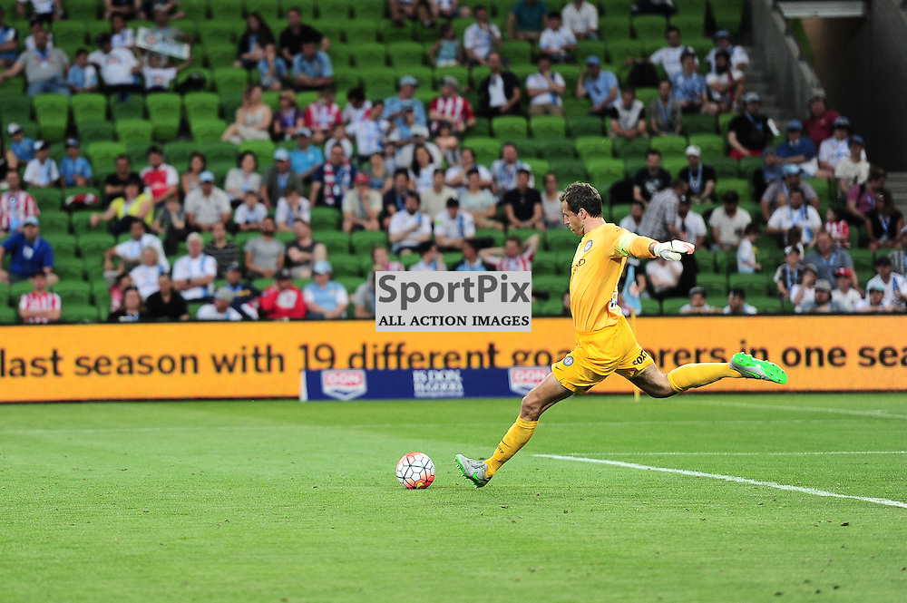 Thomas Sorensen (GK) of Melbourne City - Hyundai A-League,  25th October 2015, RD 3, Melbourne City FC v Central Coast Mariners with a win to City 3:1 © Mark Avellino | SportPix.org.uk