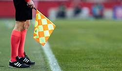 08.12.2016, Red Bull Arena, Salzburg, AUT, UEFA EL, FC Red Bull Salzburg vs Schalke 04, Gruppe I, im Bild Feature, Schiedsrichter, Linienrichter mit Fahne // Feature, referee, linesman with flag during the UEFA Europa League group I match between FC Red Bull Salzburg and Schalke 04 at the Red Bull Arena in Salzburg, Austria on 2016/12/08. EXPA Pictures © 2016, PhotoCredit: EXPA/ JFK