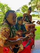 Polynesian Music, Vaitahu Village, Tahuata, Marquesas; French Polynesia; South Pacific