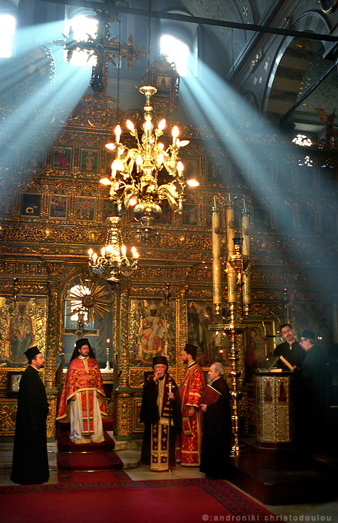 Christian liturgy in the church of the Greek Orthodox Patriarchy, in Phener area. For the few remaining Greeks in Istanbul, religion and the Patriarchy is a strong bond for their community..ISTANBUL, Androniki Christodoulou/WorldPictureNews