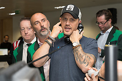 September 11, 2018 - London, UK - Tom Hardy at the 14th Annual BGC Charity Day held on the trading floor of BGC Partners in Canary Wharf, to raise money for charitable causes in commemoration of BGC's 658 colleagues and the 61 Eurobrokers employees lost on 9/11. (Credit Image: © Vickie Flores/London News Pictures via ZUMA Wire)