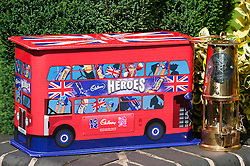 Cadbury 2012 Paralympic demonstration Sheffield..The Cadbury Heroes Olympic Bus and the Paralympic Torch in Sheffield..3 September 2012.Image © Paul David Drabble