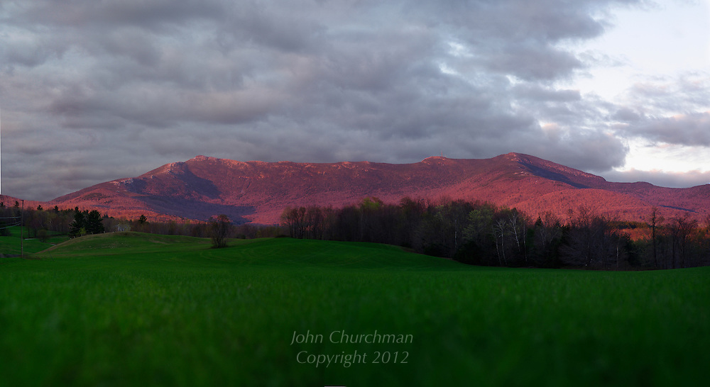 Mt. Mansfield, Vermont at sunset , may 2011