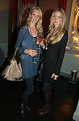 Left to right, POPPY DELEVIGNE and WILLOW CORBETT-WINDER at a party hosted by Westfield and the British Fashion Council to celebrate Fashion Forward held at Home House, 20 Portman Square, London W1 on 30th January 2007.<br />