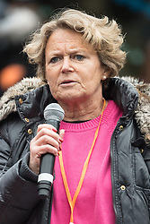 © Licensed to London News Pictures. 05/03/2017. Baroness ANN JENKIN takes part in a rally raising awareness of women and girls in third world countries who spend days walking for water. March also marks CARE's annual celebration for International Women's Day. London, UK. Photo credit: Ray Tang/LNP