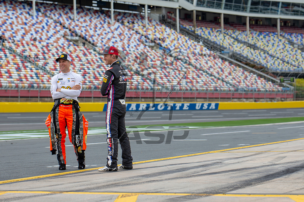 May 18, 2018 - Concord, North Carolina, USA: Jamie McMurray (1) gets ready to qualify for the Monster Energy All-Star Race at Charlotte Motor Speedway in Concord, North Carolina.