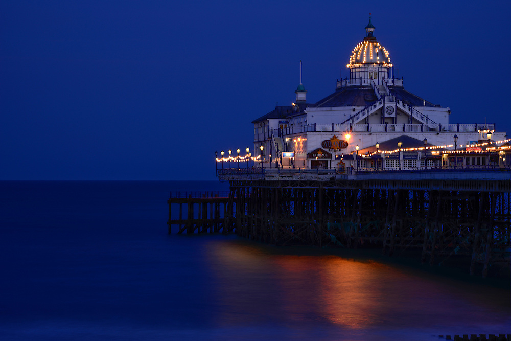Evening light on Eastbourne Victorian Pier in the United Kingdom - England