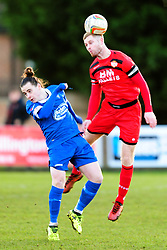 GARY MULLIGAN  KETTERING  TOWN BATTLES WITH STRATFORD BEN STEPHENS, Kettering Town v Stratford Town Evo Stik Southern League Latimer Park, Saturday 9th December 2017. Score 2-0
