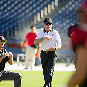 19 September 2015 - The San Diego State Aztecs took on the University of Southern Alabama for their third game of the season. The Aztecs lost to the Jaguars 34-27 in overtime at Qualcomm Stadium.