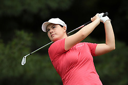 June 16, 2018 - Belmont, Michigan, United States - Caroline Masson of Germany tees off on the second tee during the third round of the Meijer LPGA Classic golf tournament at Blythefield Country Club in Belmont, MI, USA  Saturday, June 16, 2018. (Credit Image: © Jorge Lemus/NurPhoto via ZUMA Press)