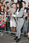 31.AUGUST.2013. LONDON<br /> <br /> LADY GAGA MEETS AND GREETS HER FANS OUTSIDE THE ROUNDHOUSE IN CAMDEN AFTER REHEARSING FOR HER i TUNES GIG.<br /> <br /> BYLINE: EDBIMAGEARCHIVE.CO.UK<br /> <br /> *THIS IMAGE IS STRICTLY FOR UK NEWSPAPERS AND MAGAZINES ONLY*<br /> *FOR WORLD WIDE SALES AND WEB USE PLEASE CONTACT EDBIMAGEARCHIVE - 0208 954 5968*