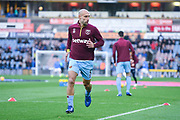 Pablo Zabaleta of West Ham United (5) warming up during the Premier League match between Huddersfield Town and West Ham United at the John Smiths Stadium, Huddersfield, England on 10 November 2018.