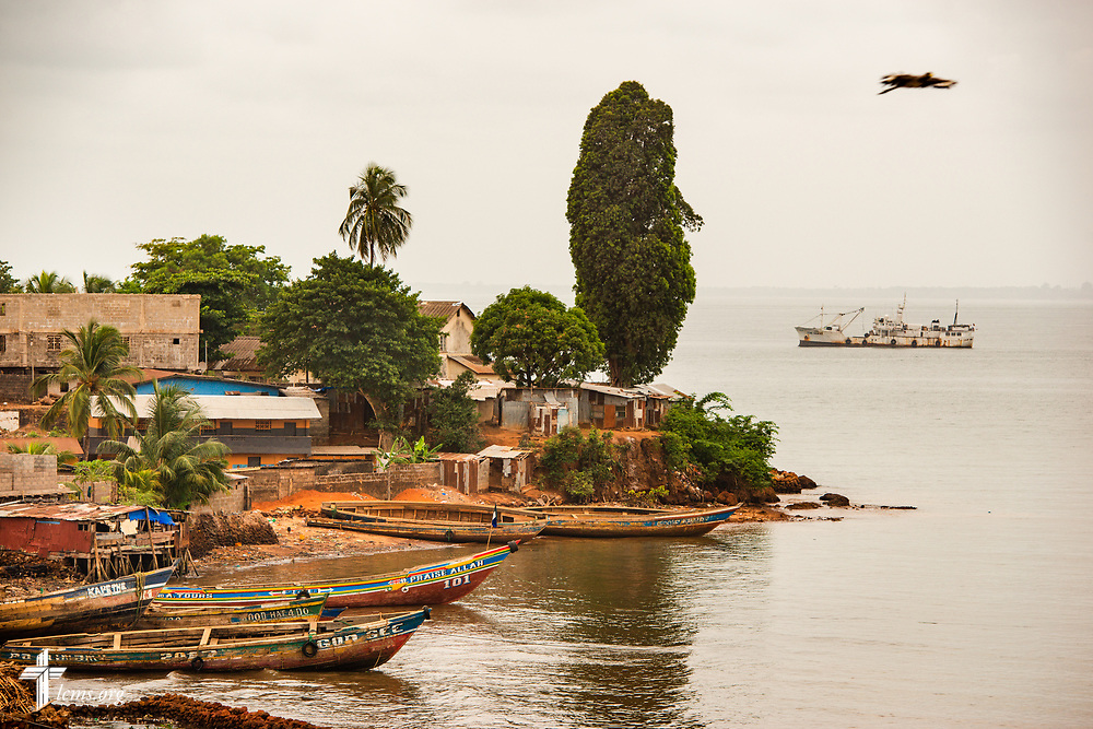 Fishing boats grounded on a shore in Freetown, Sierra Leone, West Africa, on Sunday, May 6, 2018. LCMS Communications/Erik M. Lunsford