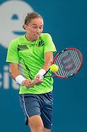 Alexandr Dolgopolov (UKR)<br /> <br /> Tennis - Brisbane International 2015 - ATP 250 - WTA -  Queensland Tennis Centre - Brisbane - Queensland - Australia  - 7 January 2015. &copy; Tennis Photo Network