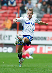 LONDON, ENGLAND - Saturday, October 8, 2011: Tranmere Rovers' Adam McGurk and Charlton Athletic's Chris Solly during the Football League One match at The Valley. (Pic by Gareth Davies/Propaganda)