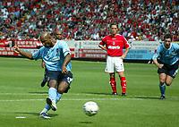 Photo. Chris Ratcliffe<br />Charlton v Man City. FA Premiership. 17/05/2003<br />Nicolas Anelka slots away the penalty that maes the score 1-0