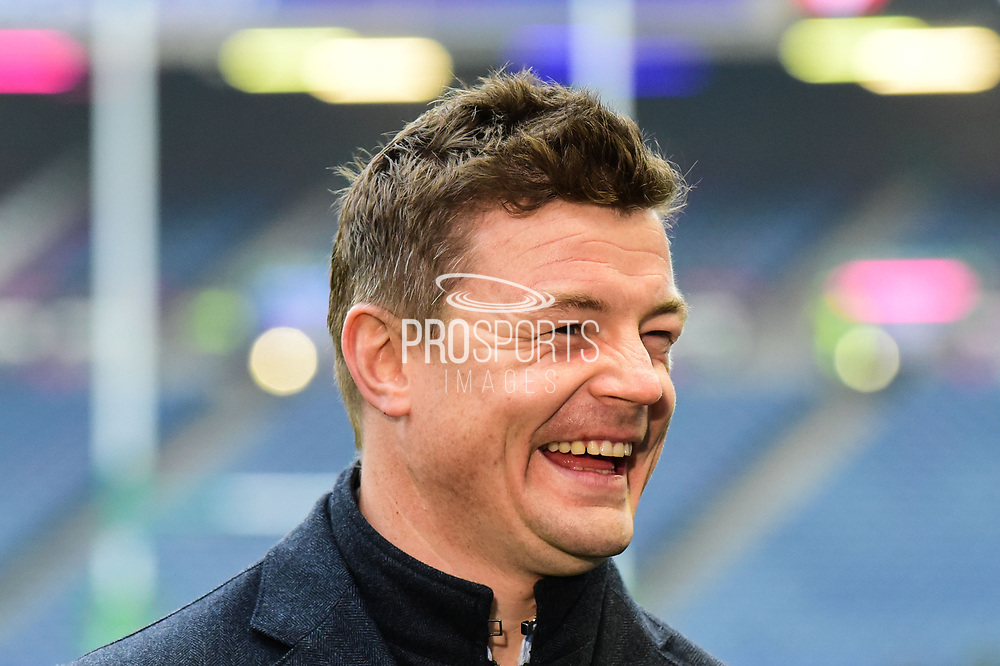 Brian O'Driscoll in top form ahead of the European Rugby Challenge Cup match between Gloucester Rugby and Stade Francais at BT Murrayfield, Edinburgh, Scotland on 12 May 2017. Photo by Kevin Murray.