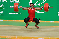 Ashgabat 2017 - 5th Asian Indoor & MartialArts Games 24-09-2017. Weightlifting mens 105kg - Salwan Alaifuri (IRQ) competes in snatch