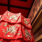 Keeping the Royals out of the harsh Pacific sun in style: 16th Century Ryukyu royal sunshade replica.
