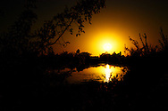Sunset over one of the ponds at the Riparian Preserve in Gilbert, AZ