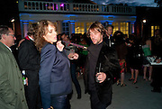 SARAH WOODHEAD; JAY KAY, 2009 Serpentine Gallery Summer party. Sponsored by Canvas TV. Serpentine Gallery Pavilion designed by Kazuyo Sejima and Ryue Nishizawa of SANAA. Kensington Gdns. London. 9 July 2009.