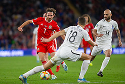CARDIFF, WALES - Friday, September 6, 2019: Wales' Joe Allen during the UEFA Euro 2020 Qualifying Group E match between Wales and Azerbaijan at the Cardiff City Stadium. (Pic by Mark Hawkins/Propaganda)
