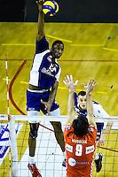 Ronald JIMENEZ / Ondrej HUDECEK / Jiri KRAL  - 19.12.2014 - Beauvais / Saint Nazaire - 12e journee de Ligue A<br />Photo : Fred Porcu / Icon Sport