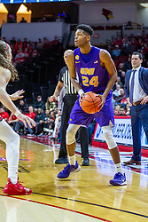 NORMAL, IL - December 31: Isaiah Brown defended by Matt Chastain during a college basketball game between the ISU Redbirds and the University of Northern Iowa Panthers on December 31 2019 at Redbird Arena in Normal, IL. (Photo by Alan Look)