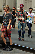 Sept. 3, 2014 - New York, NY, USA - <br /> <br /> Behati Prinsloo out for a stroll in New York City on September 3, 2014 <br /> <br /> But newlyweds Behati Prinsloo, 25, and Adam Levine, 35, took their similar styles to another , as the pair shopped around New York's Soho neighbourhood.<br /> ©Exclusivepix