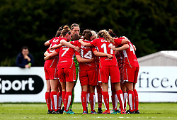 Bristol City Women huddle - Mandatory by-line: Robbie Stephenson/JMP - 03/06/2017 - FOOTBALL - Stoke Gifford Stadium - Bristol, England - Bristol City Women v Arsenal Ladies - FA Women's Super League Spring Series