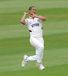 Somerset's Alfonso Thomas - Photo mandatory by-line: Harry Trump/JMP - Mobile: 07966 386802 - 14/06/15 - SPORT - CRICKET - LVCC County Championship - Division One - Day One - Somerset v Nottinghamshire - The County Ground, Taunton, England.