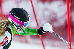 """Bucik Ana (SLO) competes during FIS Alpine Ski World Cup 2014/15 5th Ladies' Slalom race named """"Snow Queen Trophy 2015"""", on January 4, 2015 in Course Crveni Spust at Sljeme hill, Zagreb, Croatia.  Photo by Vid Ponikvar / Sportida"""