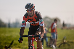 QUINZIATO Manuel of BMC Racing Team during the 115th Paris-Roubaix (1.UWT) from Compiègne to Roubaix (257 km) at cobblestones sector 17 from Hornaing to Wandignies, France, 9 April 2017. Photo by Pim Nijland / PelotonPhotos.com | All photos usage must carry mandatory copyright credit (Peloton Photos | Pim Nijland)