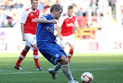 Peterborough United's Grant McCann scores - Photo mandatory by-line: Joe Dent/JMP - Tel: Mobile: 07966 386802 28/09/2013 - SPORT - FOOTBALL - New York Stadium - Rotherham - Rotherham United V Peterborough United - Sky Bet One