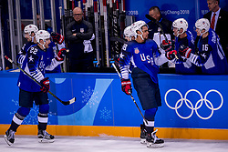 GANGNEUNG, SOUTH KOREA - FEBRUARY 14: forward Jordan Greenway #18 of the United States  during Ice Hockey match between Slovenia and USA in the Men's Ice Hockey Preliminary Round Group B at Gangneung Hockey Centre on February 14, 2018 in Gangneung, South Korea. Photo by Ronald Hoogendoorn / Sportida
