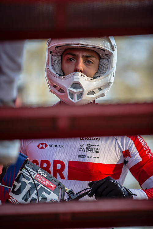 #515 (SHARROCK Paddy) GBR at Round 10 of the 2019 UCI BMX Supercross World Cup in Santiago del Estero, Argentina