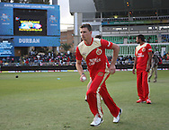 Dale Steyn during match 11 of the Airtel CLT20 between The South Australian Redbacks and The Royal Challengers Bangalore held at Kingsmead Stadium in Durban on the 17 September 2010..Photo by: Steve Haag/SPORTZPICS/CLT20.