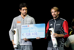 30.10.2016, Stadthalle, Wien, AUT, ATP Tour, Erste Bank Open, Siegerehrung, im Bild Marcelo Melo (BRA), Lukasz Kubot (POL) // Lukasz Kubot of Poland and Marcelo Melo of Brazil during Winner Award Ceremony of Erste Bank Open of ATP Tour at the Stadthalle in Vienna, Austria on 2016/10/30. EXPA Pictures © 2016, PhotoCredit: EXPA/ Sebastian Pucher