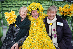 "Repro Free: 08/02/2013 .""Daffodil Day Volunteers Go Daf"".Moira Shortall and Irene Murray all from Portarlington Co Laoise are pictured with ""Daf Man"" James Gileran at the Daffodil Day launch in advance of the Irish Cancer Society's 26th Daffodil Day supported by Dell and taking place on Friday 22nd March. Organisers are hoping to raise ?3.4millon for cancer information, care and support services around the country and appeal for volunteers to get involved. Visit www.cancer.ie or CallSave 1850 606060 to organize, volunteer or donate. Picture Andres Poveda."