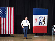 08 DECEMBER 2019 - CORALVILLE, IOWA: Mayor PETE BUTTIGIEG walks into his campaign event in Coralville Sunday. Buttigieg, the mayor of South Bend, Indiana, is running to be the Democratic nominee for President in the 2020 election. Iowa traditionally holds the first presidential selection event of the 2020 election cycle. The Iowa Caucuses are on Feb. 3, 2020.     PHOTO BY JACK KURTZ