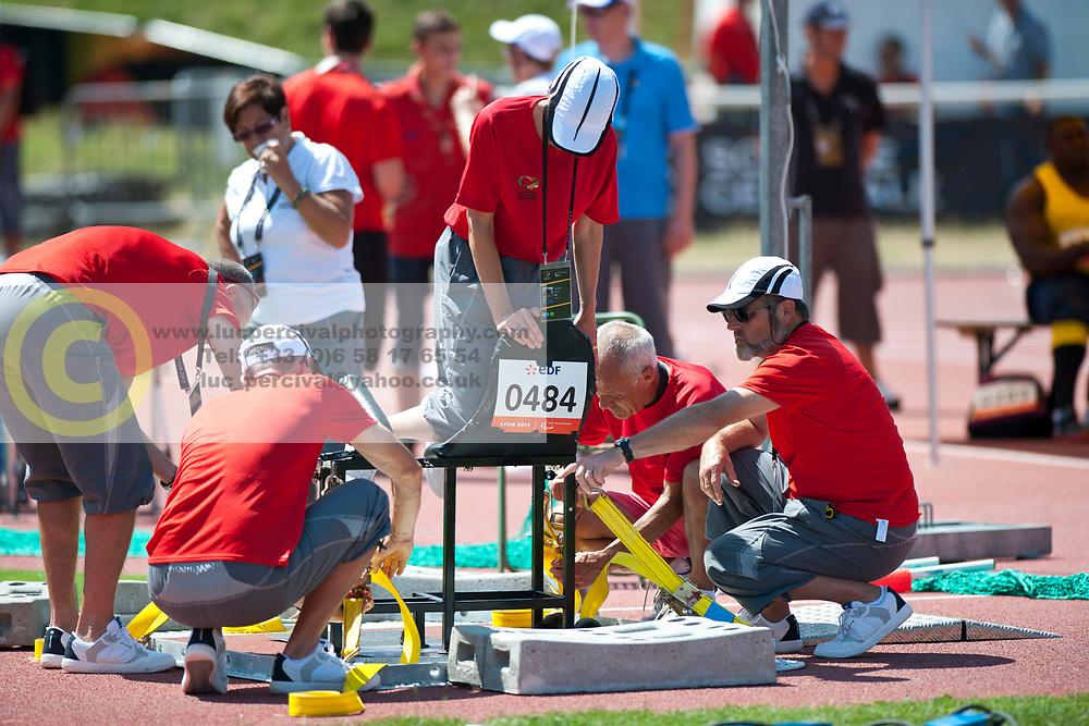 Behind the scenes, , Javelin, F57/58, 2013 IPC Athletics World Championships, Lyon, France