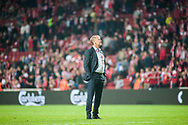 01.09.2017. Copenhagen, Denmark. <br /> Denmark coach Aage Hareide after the game against Poland during the FIFA 2018 World Cup Qualifier at Parken Stadion.<br /> Photo: © Ricardo Ramirez.