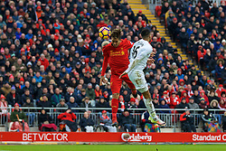 LIVERPOOL, ENGLAND - Saturday, January 21, 2017: Liverpool's Roberto Firmino scores the first goal against Swansea City to pull a goal back and make the score 1-2 during the FA Premier League match at Anfield. (Pic by David Rawcliffe/Propaganda)