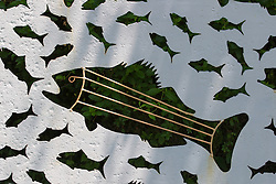 outdoor fish sculpture