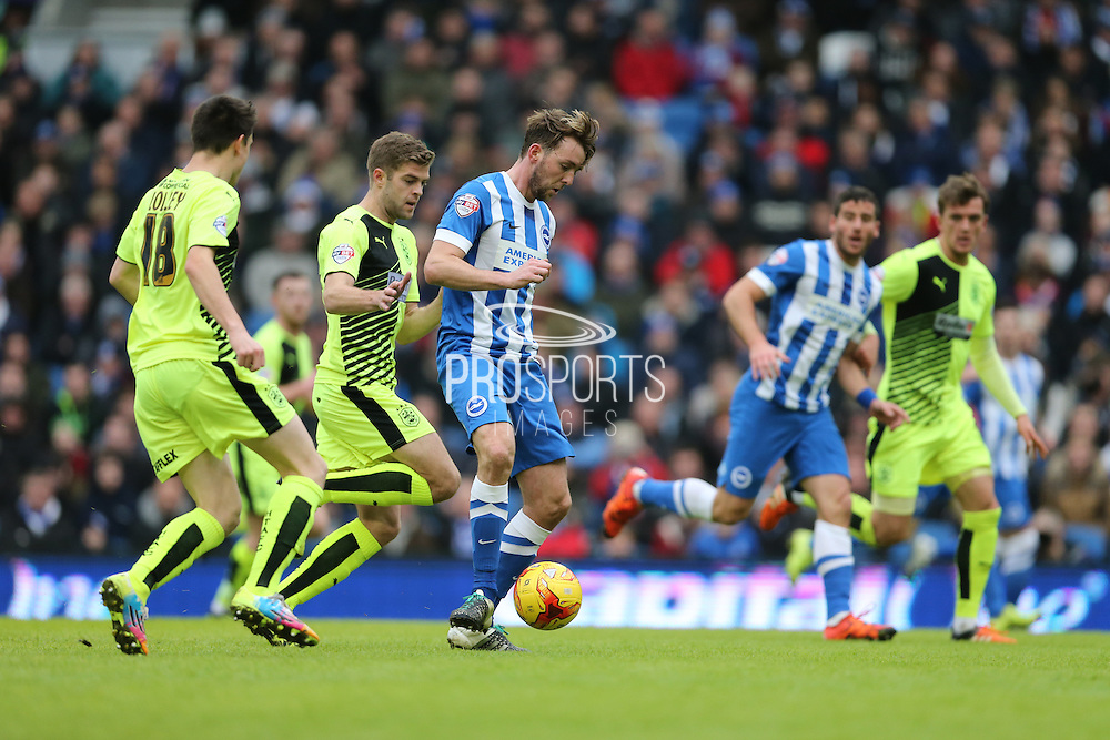 Brighton central midfielder, Dale Stephens (6) during the Sky Bet Championship match between Brighton and Hove Albion and Huddersfield Town at the American Express Community Stadium, Brighton and Hove, England on 23 January 2016.