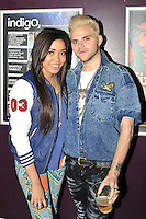 LONDON - April 14: Dionne Bromfield and Vince Kidd attending the Lauryn Hill concert at the indigo2, Greenwich, London, UK. April 14, 2012