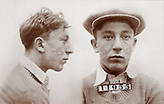 Alias: Half Pint 1929 Mug shot 21 year old burglary suspect, New Jersey